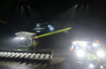 Green Claas Combine