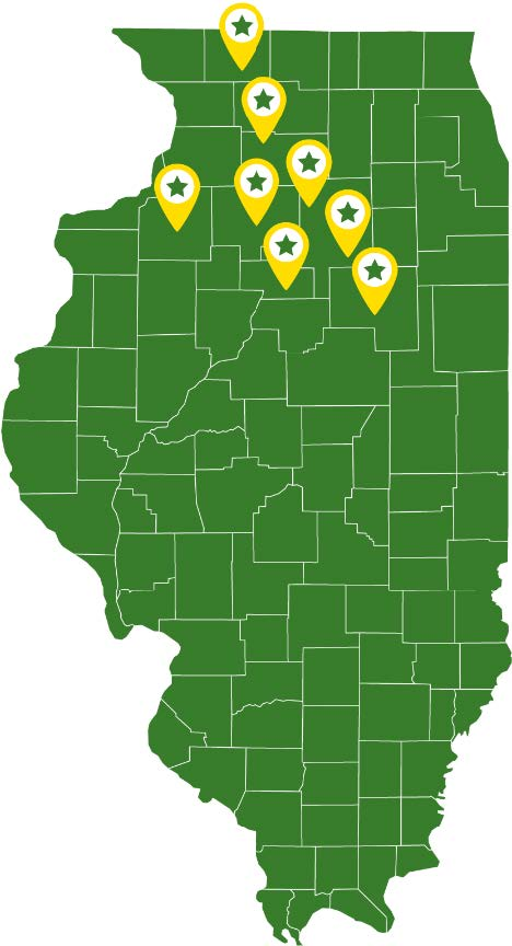 Prairie State Tractor Map