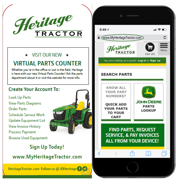 Herritage Tractor Virtual Parts Counter