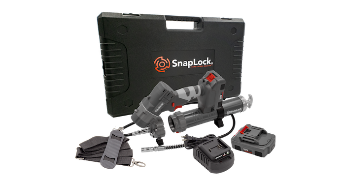 SnapLock Threadless Reload 20V Lithium-ion Battery Operated Grease Gun