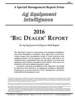 2016 Big Dealer Report Cover