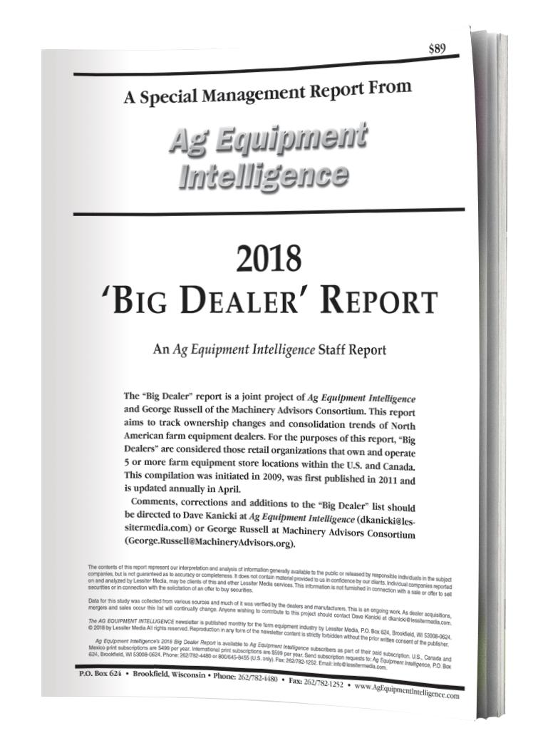 2018 Big Dealer Cover - 3D White