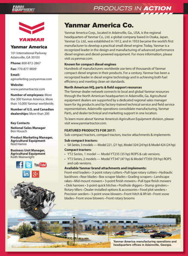13d3687fe7cc Products in Action  Yanmar America Co.