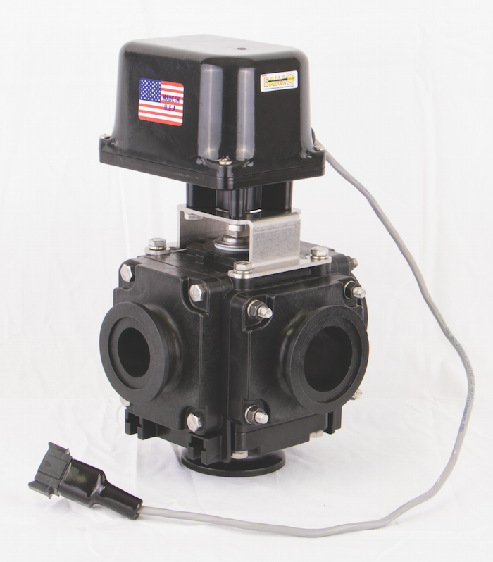 Banjo Electric 3 Way Directional Ball Valve: Banjo Corp. MEV225CF Bolted 5-Way Electric Valve