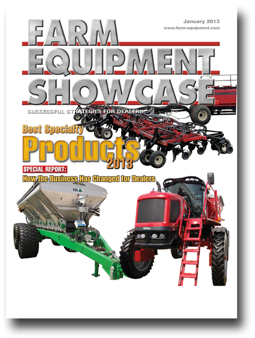 Farm Equipment Magazine Cover - January 2013 Showcase