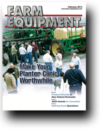 Farm Equipment Magazine Cover - February 2013