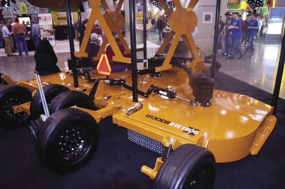 Woods Equipment Co. featured its newly designed BW1800X Bat Wing cutter.