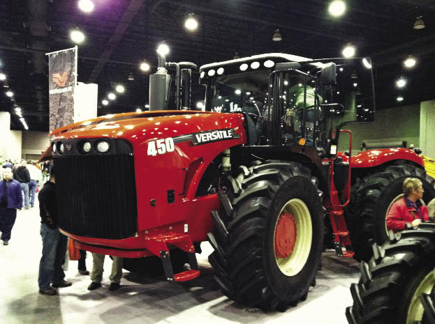 Versatile showcased its new 450 4WD tractor with Tier 4 Interim compliant engine.