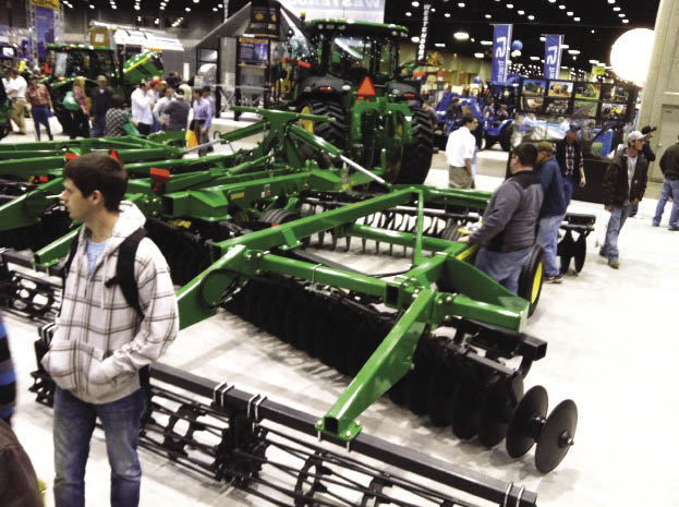 John Deere showed the new 2623VT vertical tillage tool that it introduced last fall.