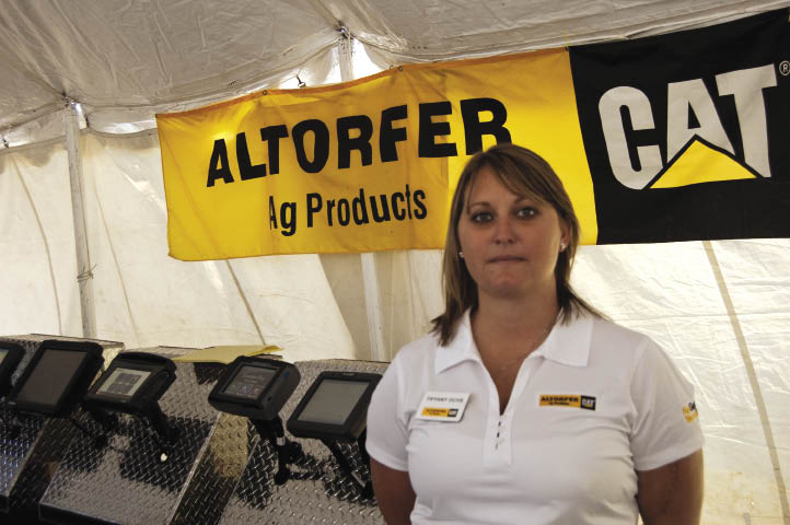 "Tiffany Ochs, ag technology sales with Altorfer Ag Products, is providing agronomic advice to customers after spending four years as a technology specialist with a co-op. Altorfer could eventually be a ""one-stop shop"" for equipment customers looking for precision data analysis."