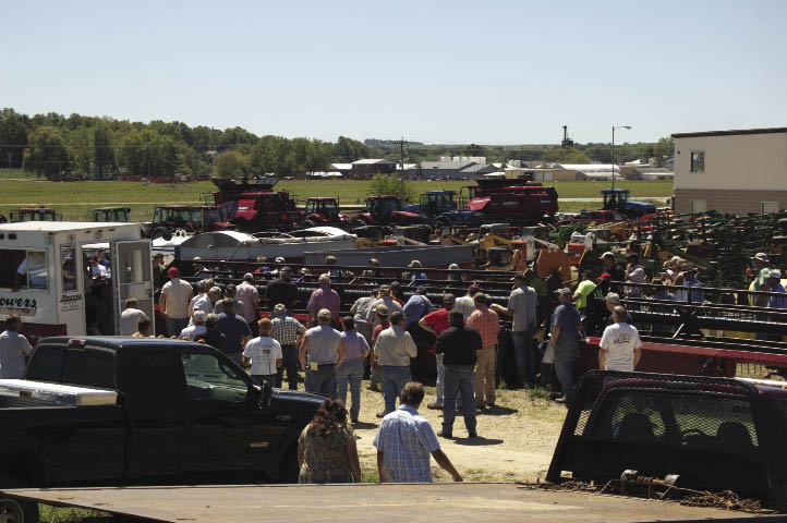 Johnson Tractor's August auction at its Juda, Wis., location drew a crowd of about 350 people. The majority of buyers were from Wisconsin, Illinois and Iowa. However, a few pieces were sold to people from Ohio, Pennsylvania and Michigan.