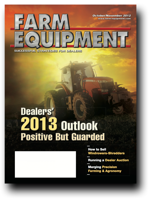 Farm Equipment Magazine Cover - October/November 2012
