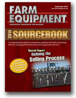 Farm Equipment Magazine Cover - September 2013 SOURCEBOOK