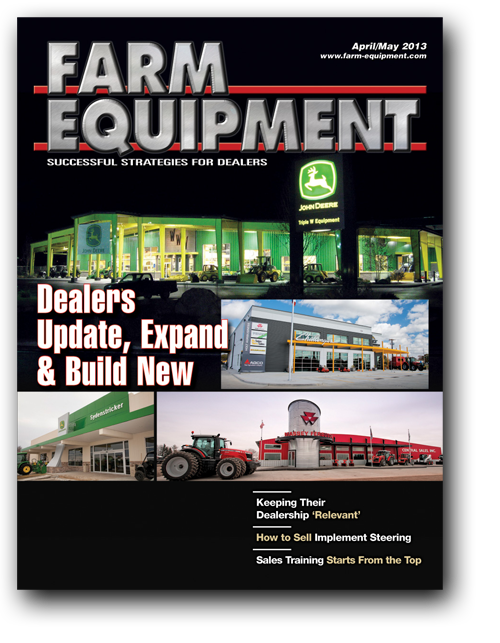 Farm Equipment Magazine Cover - April/May 2013