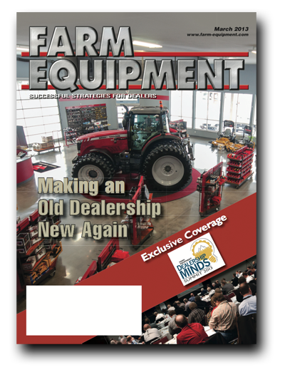 Farm Equipment Magazine Cover - March 2013