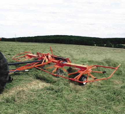 """Tedding within a few hours of cutting at that perfect wilt stage will keep the leaves intact,"" says Chuck Walker. ""If the farmer finishes cutting a field at 2 p.m., he should be tedding by 4 or 5 p.m. that afternoon to lift and separate the cutting to get the air flowing through the hay as fast as possible."""