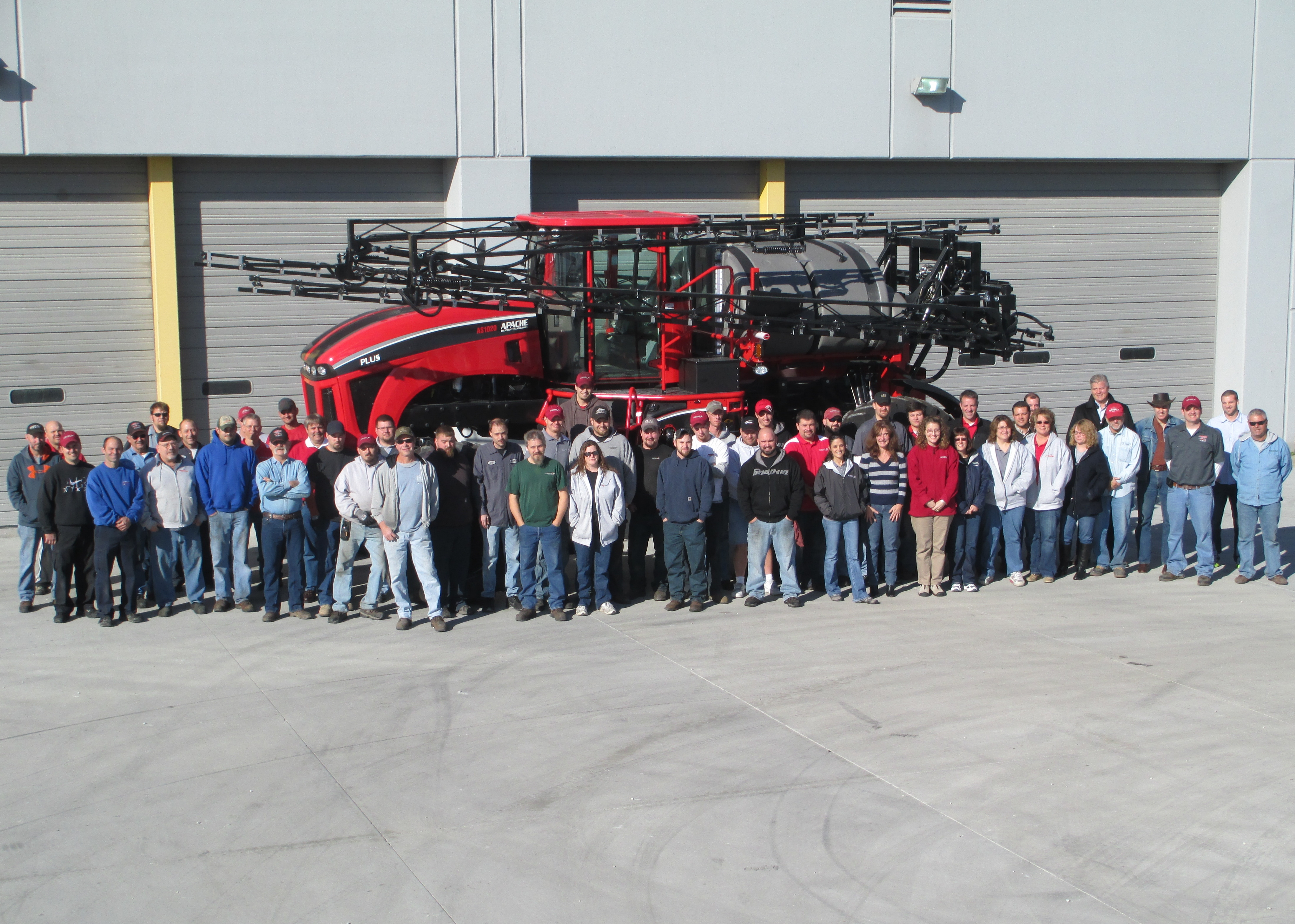 The team built its 70th Apache sprayer in one month, surpassing the previous record of 69 sprayers.