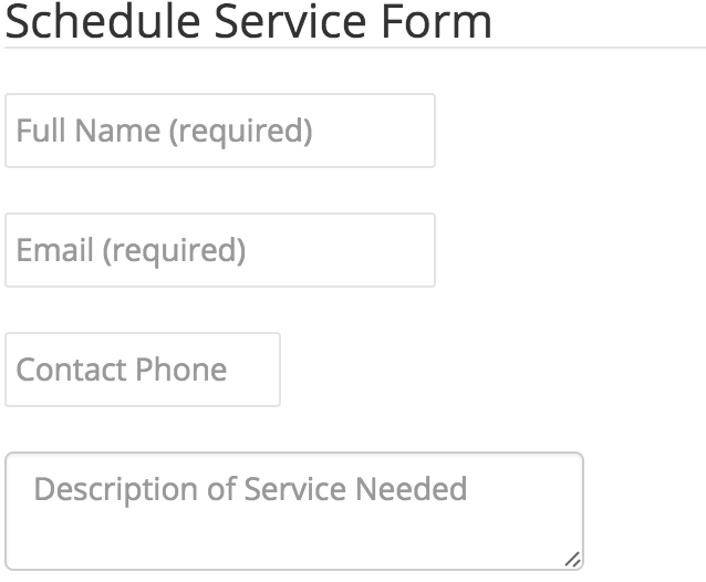 Submit Service Form
