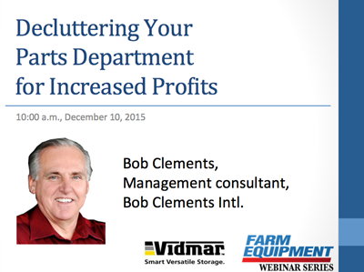 Decluttering Your Parts Department for Increased Profits