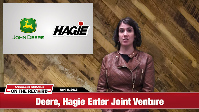 [On The Record] Sprayer Market Shake Up: Hagie Enters Joint Venture with Deere