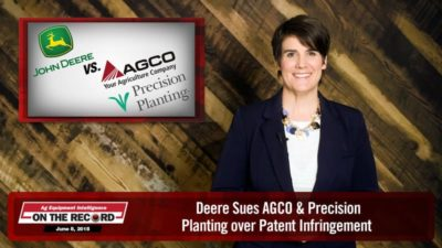 On the Record: Deere Sues AGCO & Precision Planting over Patent Infringement