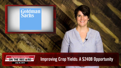 On the Record: Improving Crop Yields Offers $240B Precision Farming Opportunity