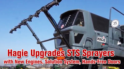 Hagie Upgrades STS Sprayers with New Engines, Solution System, Hands-Free Doors