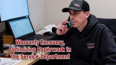Warranty Recovery, Optimizing Paperwork in the Service Department