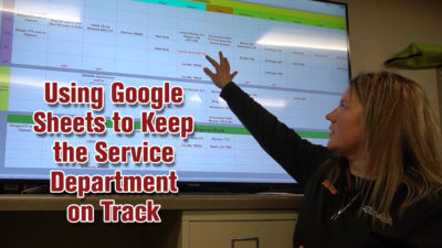 Using Google Sheets to Keep the Service Department on Track