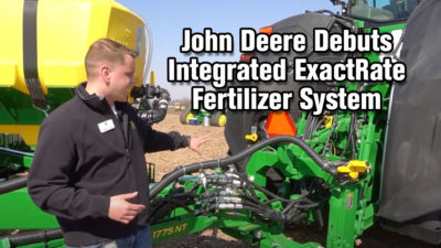 John Deere Debuts Integrated ExactRate Fertilizer System