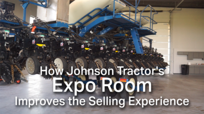 How Johnson Tractor's Expo Room Improves the Selling Experience