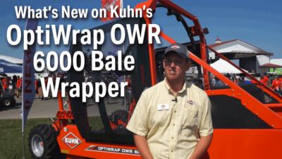 What's New on Kuhn's OptiWrap OWR 6000 Bale Wrapper